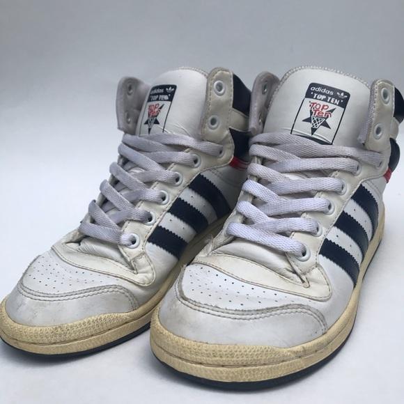 Vintage Adidas High Top Top Tens Mens